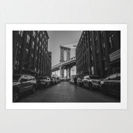 New York City Bridge (Black and White) Art Print