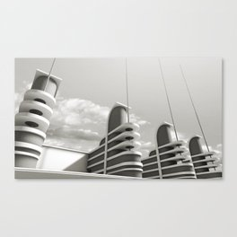 PAN PACIFIC AUDITORIUM BLACK AND WHITE Canvas Print