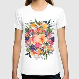 Autumn watercolor bouquet T-shirt