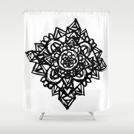 Crystal Flower  Shower Curtain