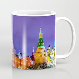 Moscow Manege Square, Museum Of Russian History, The Kremlin At Winter Night Coffee Mug