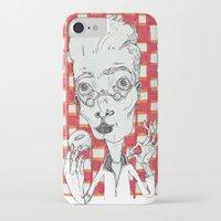 doughnut iPhone & iPod Cases featuring Doughnut Taster by Maria Nikla