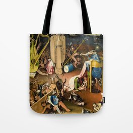 The Garden of Earthly Delights - Bosch - Hell Bird Man Detail Tote Bag