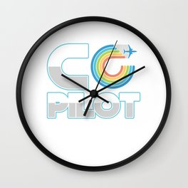 Aircraft Flying Aviator Flight Engineers Planes Air Vehicles Gift Co Pilot Wall Clock