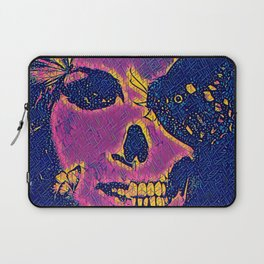 Skull and Butterflies Pink Laptop Sleeve