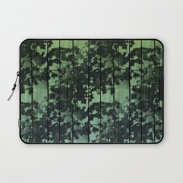 Leaf Shadows on Deck - green2turquoise Laptop Sleeve