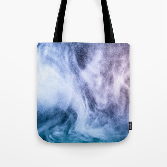 Blue and purple abstract heavenly clouds Tote Bag
