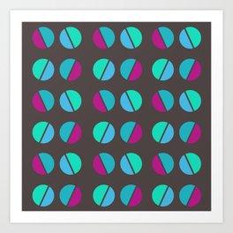 semicircles 2 Art Print