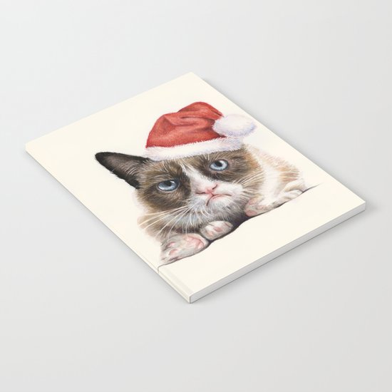 Grumpy Santa Cat Notebook