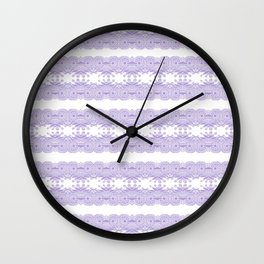 Lace Pattern Neck Gator Lacey Blue and White Wall Clock