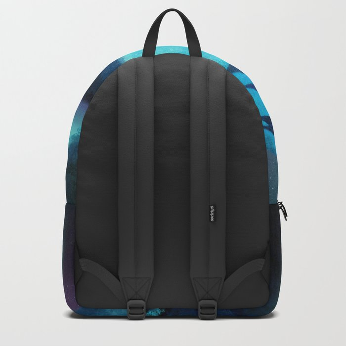 Aurora Borealis In The Mountain Pass Backpack