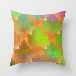 Cascading Leaves Throw Pillow