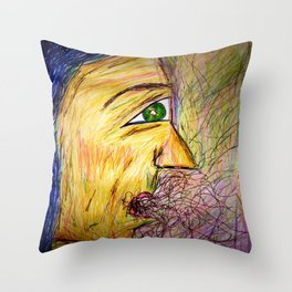 A Hawk in The Jar. Throw Pillow