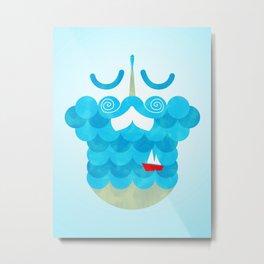 The Bearded Sea Metal Print