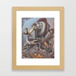 draco barbon the albino Framed Art Print
