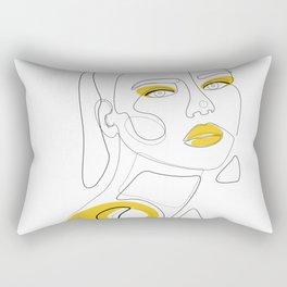 Golden Girl Rectangular Pillow