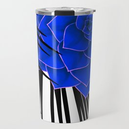 Big Bold Indigo Echeveria Illustration Travel Mug