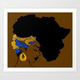 Fro African Art Print