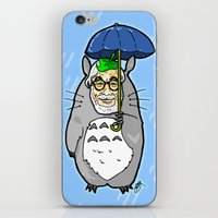 hayao miyazaki iPhone & iPod Skins featuring Hayao Miyazaki IS... Tortoro.  Is this his goodbye? by beetoons