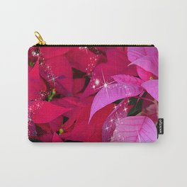 Christmas Poinsettia Photo Design Carry-All Pouch
