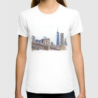 brooklyn bridge T-shirts featuring Brooklyn Bridge by Christina Brunnock