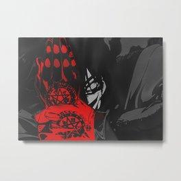 Custom Designed Alucard Demon Design Metal Print