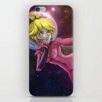princess peach iPhone & iPod Skins featuring Princess Peach by Luiz Raffaello de Negreiros