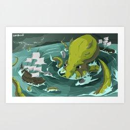 Release the Kracken  Art Print