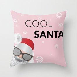 Cool Santa Throw Pillow