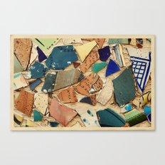 Neve Zedek Mosaic Wall Canvas Print