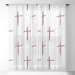 Rugged Cross Sheer Curtain