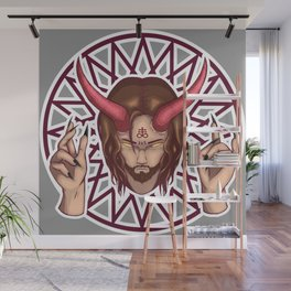 Crosses Meet Pentagrams Wall Mural