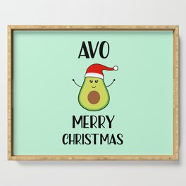 Avo Merry Christmas, Funny, Quote Serving Tray