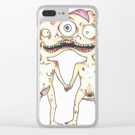 Carly & Charlie Clear iPhone Case