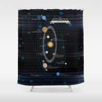 astronomy Shower Curtains featuring Mythology of Astronomy by Pygmy Creative