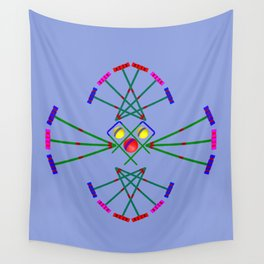 Croquet - Mallets,Balls and Hoops Design Wall Tapestry