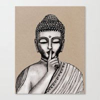 buddha Canvas Prints featuring BUDDHA by Vanya