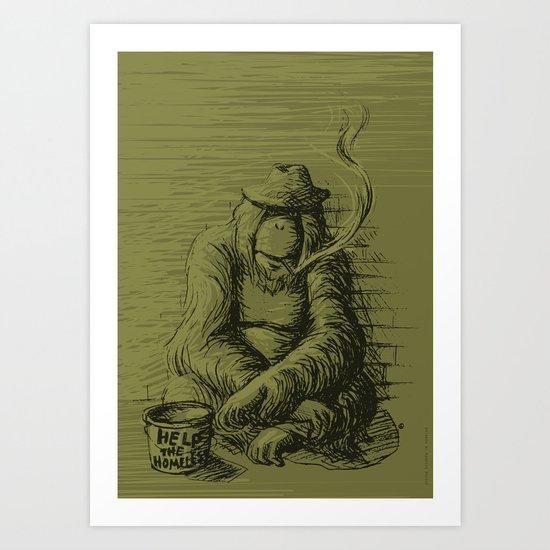 Help the homeless Art Print