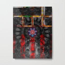 Digital Abstraction Mandala Metal Print