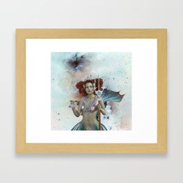 Space Siren: Mermaids of the Sky Framed Art Print