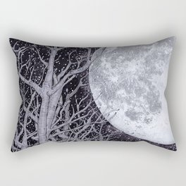 Moonlight Bather Colour Rectangular Pillow