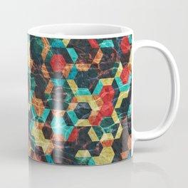 Colorful Half Hexagons Pattern #07 Coffee Mug
