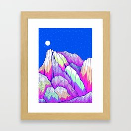 The vibrant Peak Framed Art Print