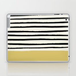 Daffodil Yellow x Stripes Laptop & iPad Skin