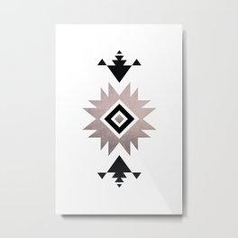 Minimalist Aztec Metal Print