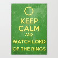 the lord of the rings Canvas Prints featuring Lord of the Rings by MeMRB