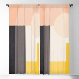 Abstract Geometric 67 Blackout Curtain