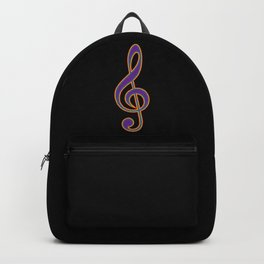 Rainbow G Clef Treble Clef Music Lover Musician Backpack