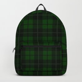 Forest Green Plaid Backpack