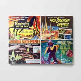 50s Sci-Fi Movie Poster Art Collection #3 Metal Print